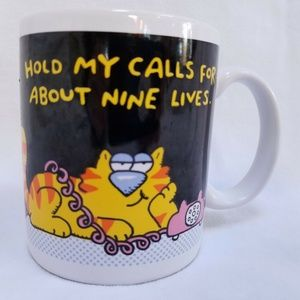 Hold My Calls For About 9 Lives Hallmark Mug Cup